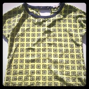 Pleione Geometric Shapes Blouse in Size Small.